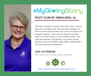 #MyGivingStory - Lisa Patterson - Pilot International #GivingTuesday