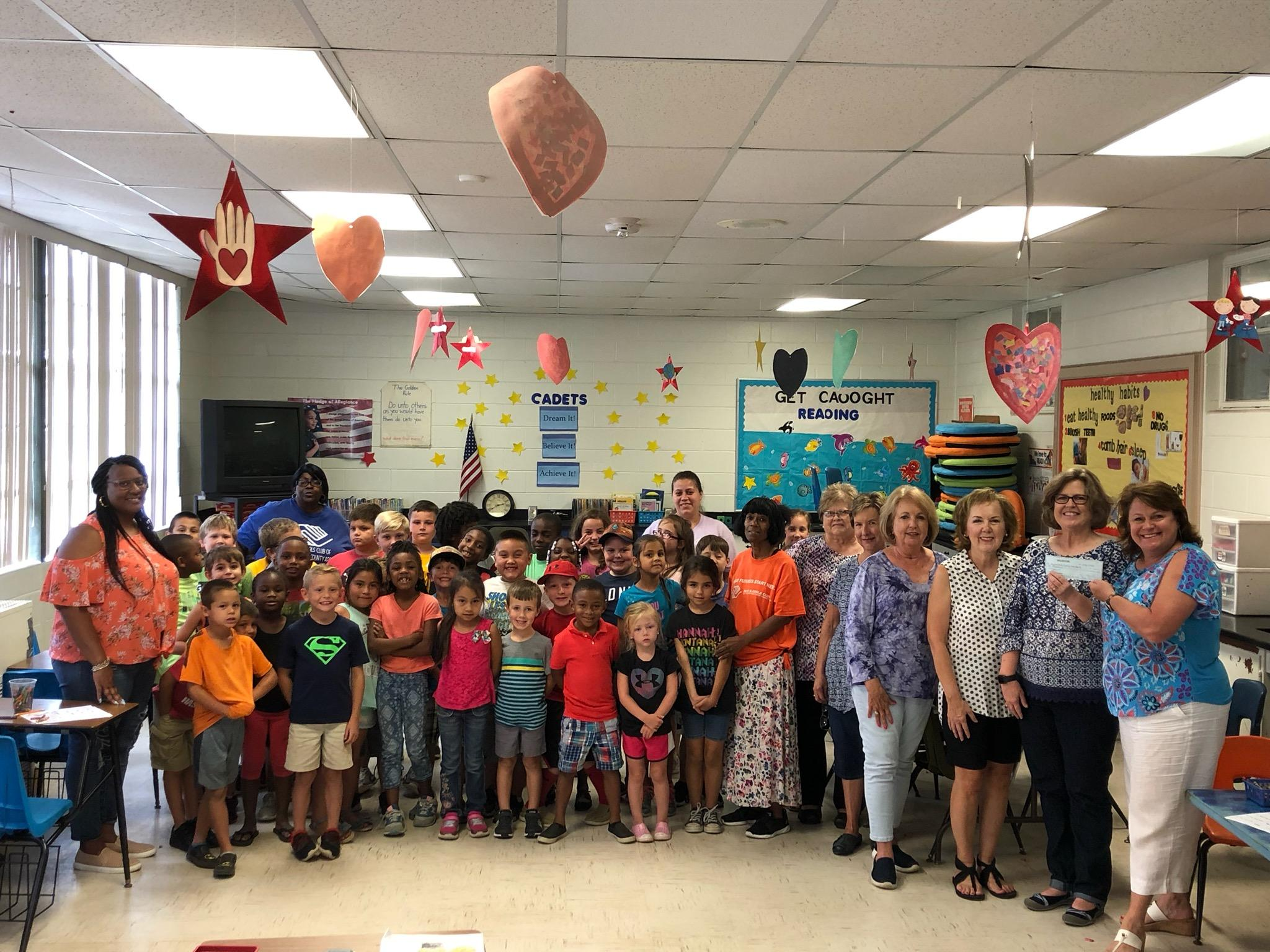 The Pilot Club of Adel, Georgia donates to the Boys and Girls Club.
